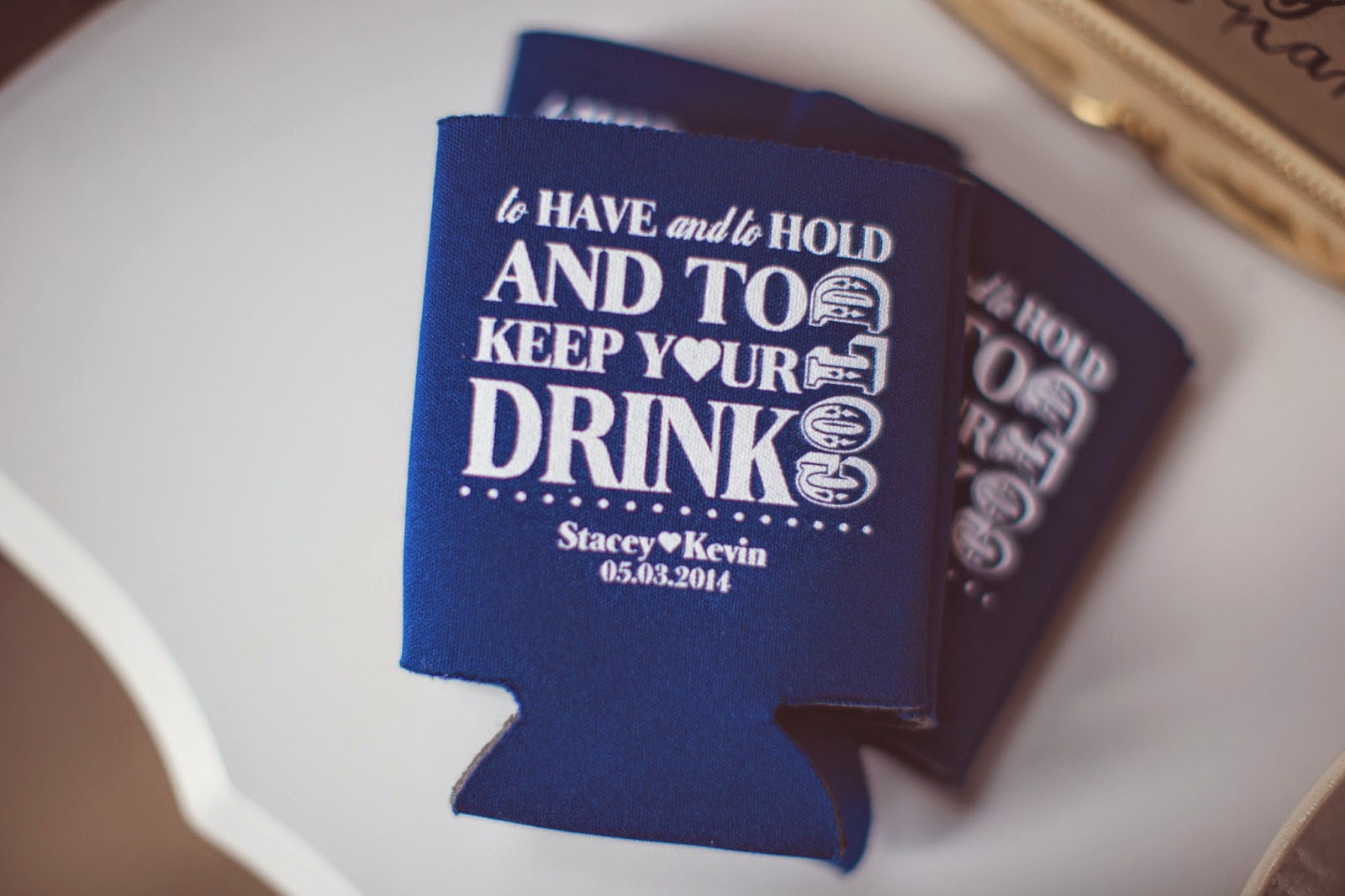 wedding favor drink koozies