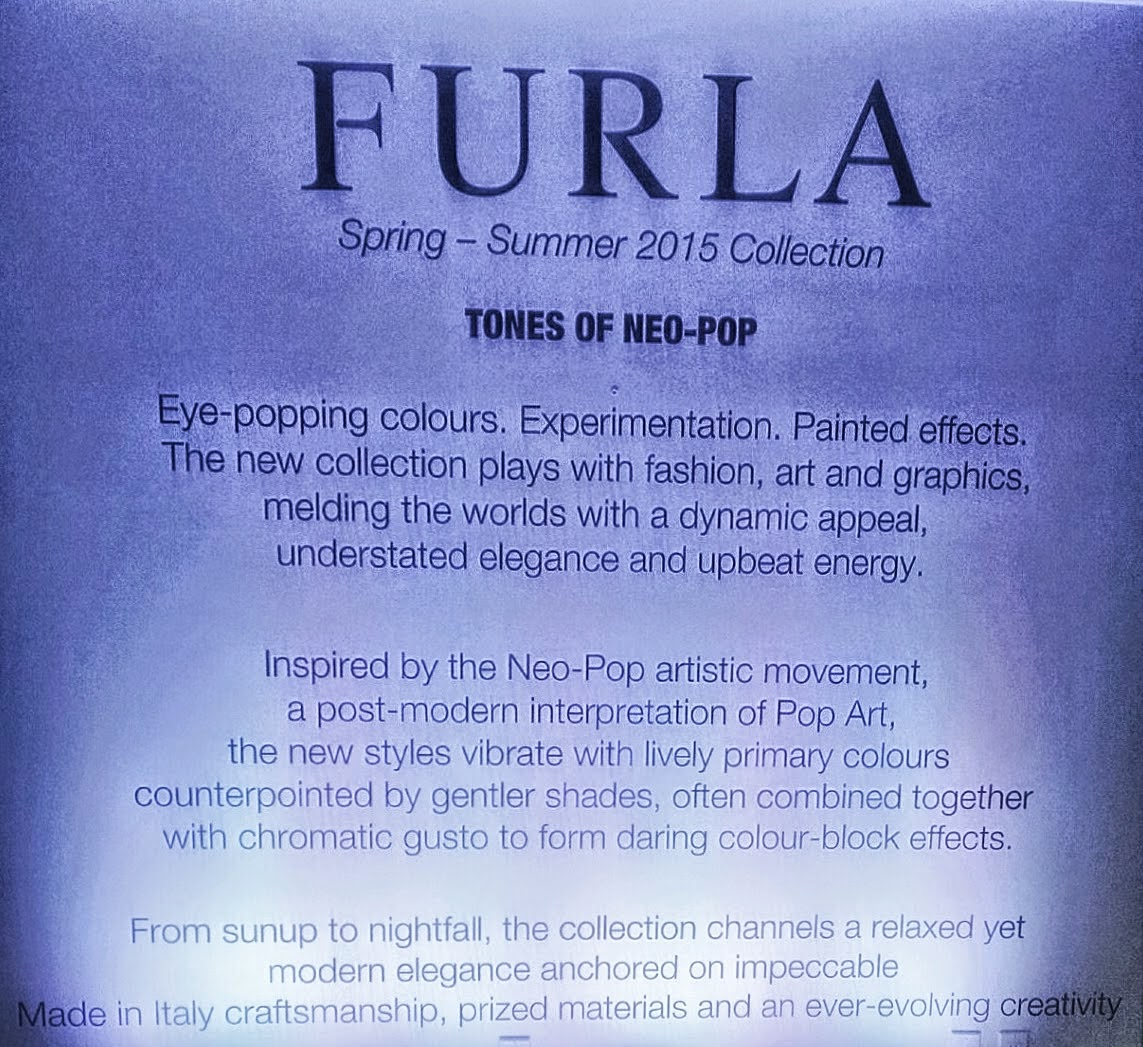 Inspiration notes for Furla's Spring 2015 collection