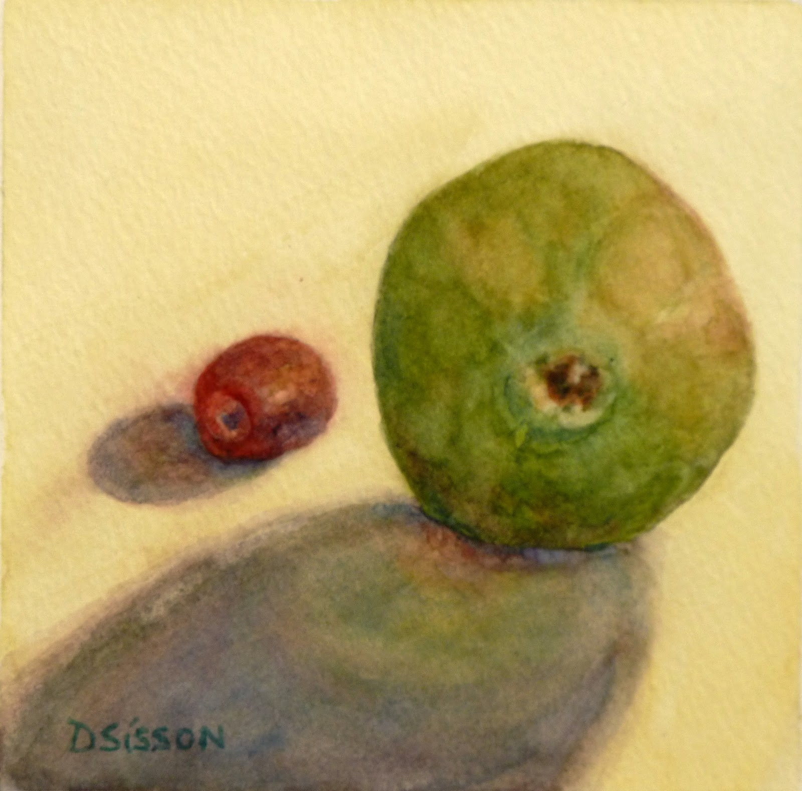 daily painting projects simple fruit watercolor painting