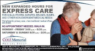 New Hours For Express Care