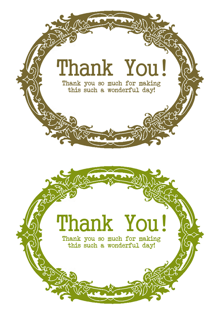 Inventive image within thank you notes printable