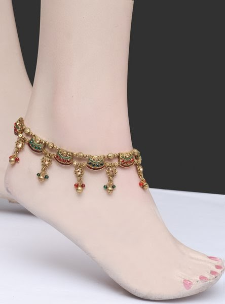 Wedding Indian trendy anklets payal for girls catalog photo