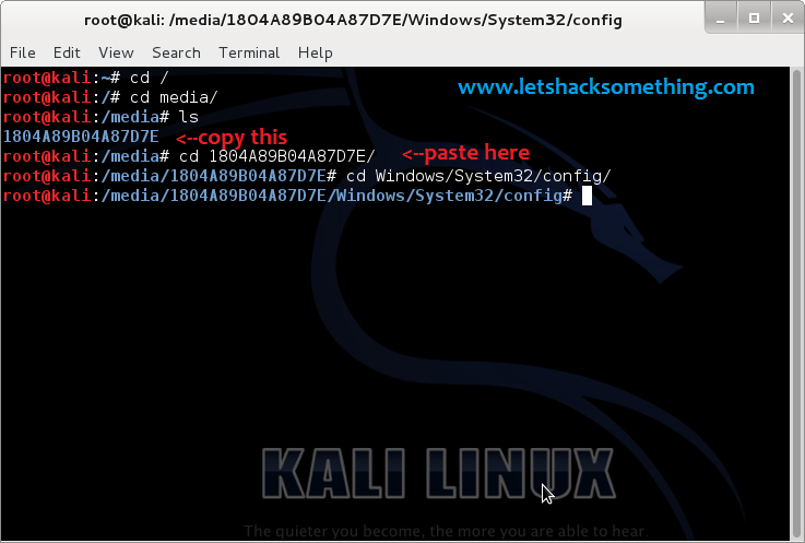 break windows 8.1,8,7 admin passwords kali linux