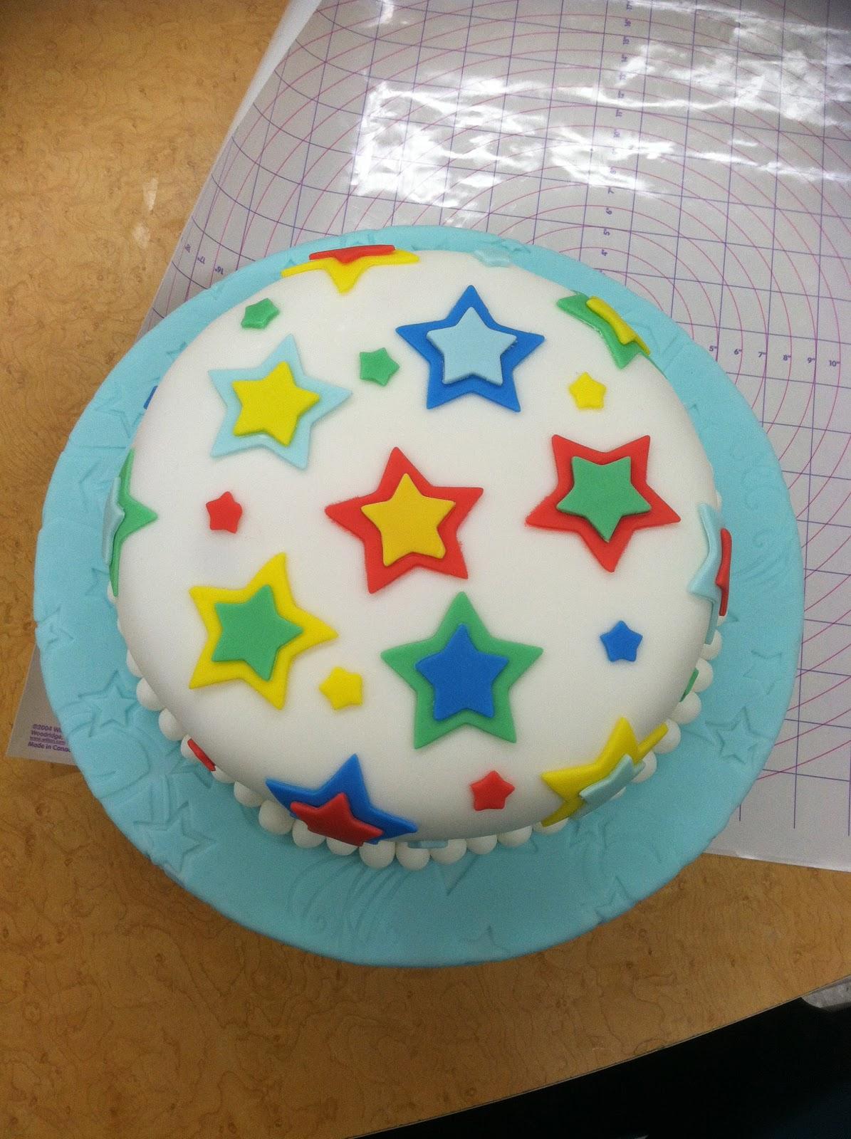 Kylas Cupcakes Fondant Birthday Cake With Stars