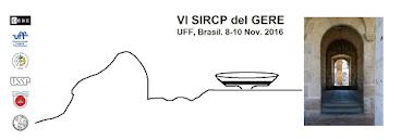 Anunciamos la realización del VI SIRCP del GERE, entre el 08 y el 10 de noviembre de 2016, Brasil