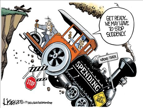 driving economic bus over a cliff obama