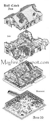 Half -Caved Inn by Del Teigeler, Mavfire