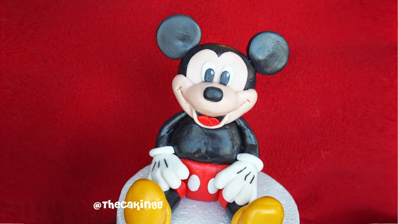 how to make mickey mouse cake tutorial