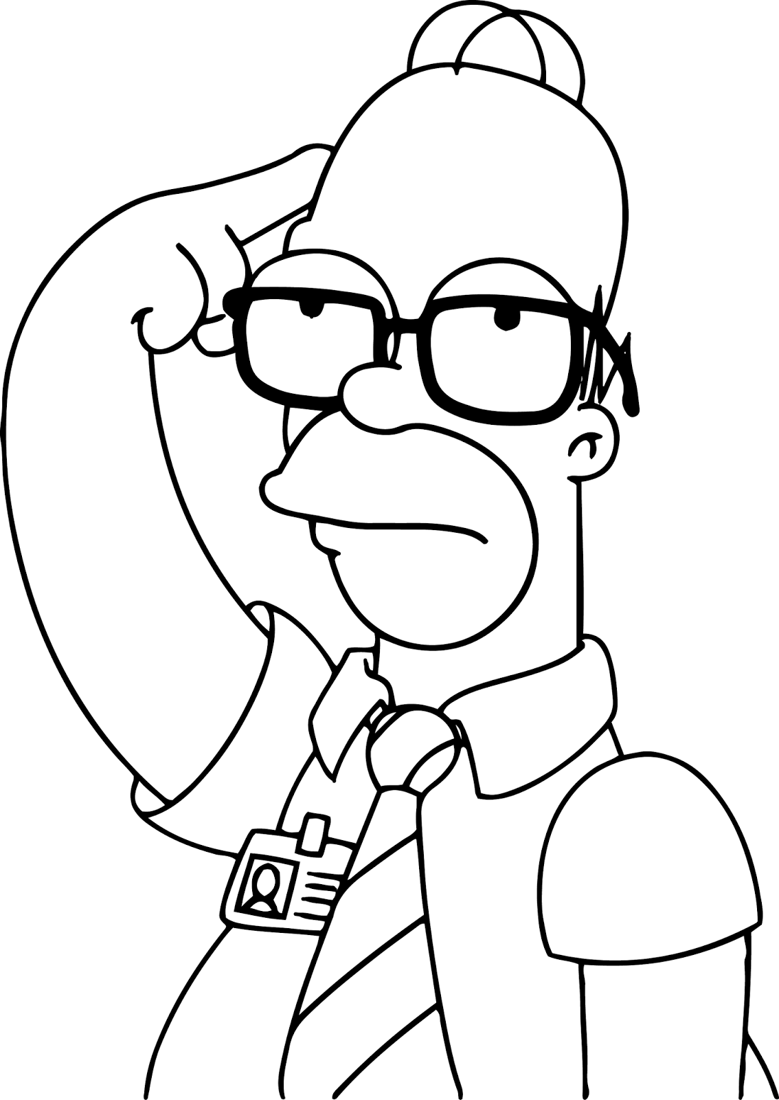Free coloring pages of homero simpson