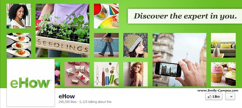eHow.com Facebook Timeline Page