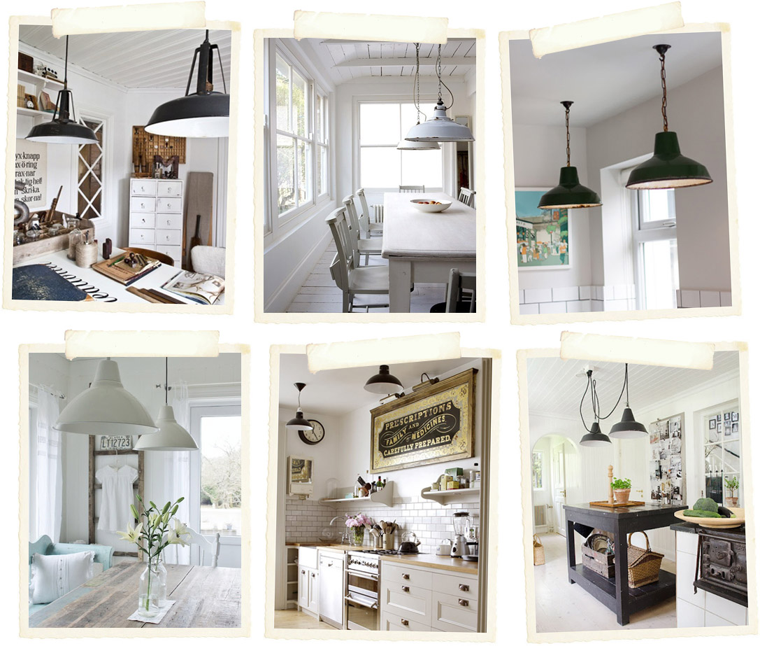 Stile Industriale e lampade vintage - Shabby Chic Interiors