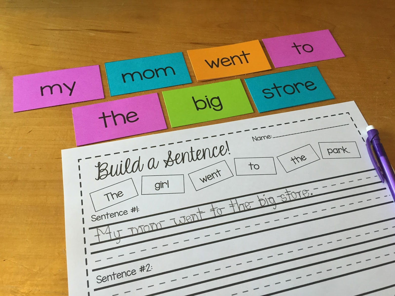 sentence cards Last month, i shared some level 1 sight word sentence cards and today, i'm sharing my level 2 sight word sentence cards for subscribers only.