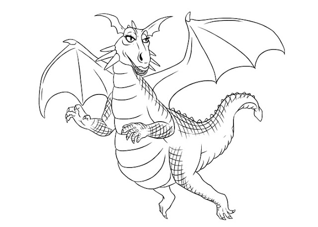 Shrek Dragon Coloring Pages