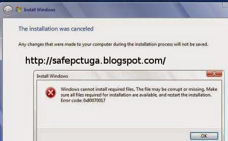 erro 0x80070017 instalar windows resolvido
