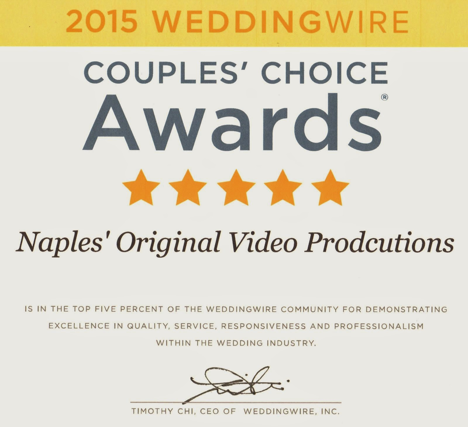 2015 Couple's Choice Award
