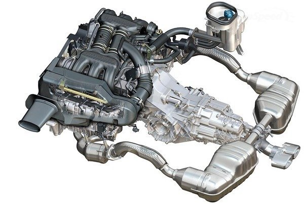 cayman s 34l engine and trans assembly