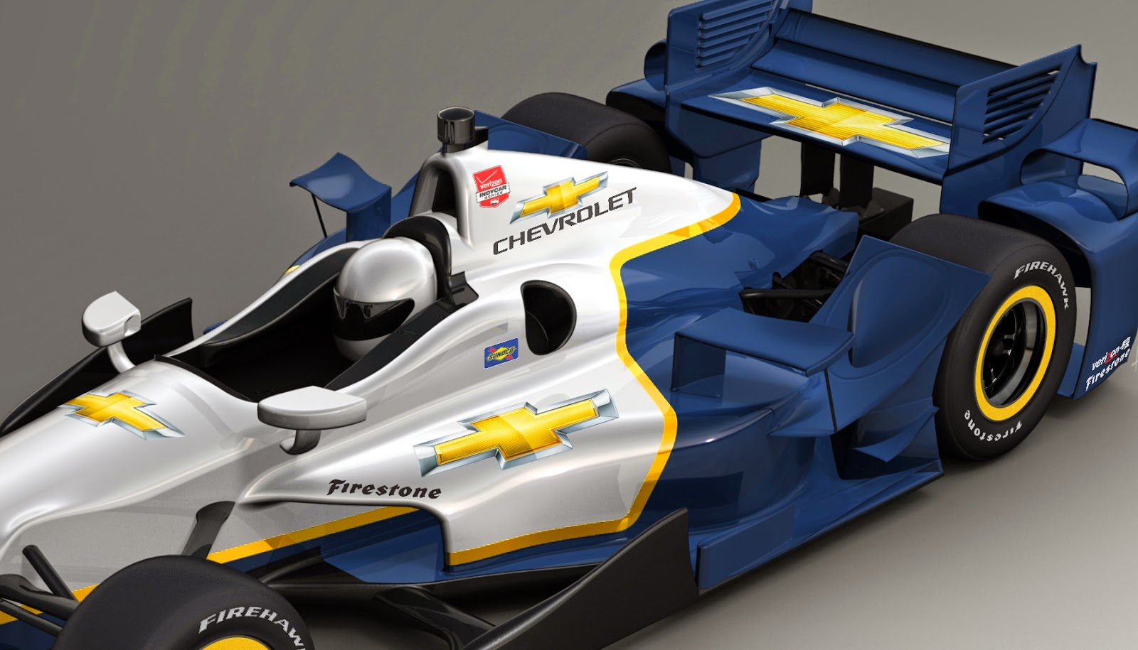 Chevy's aero kit rendering with the upper flick.