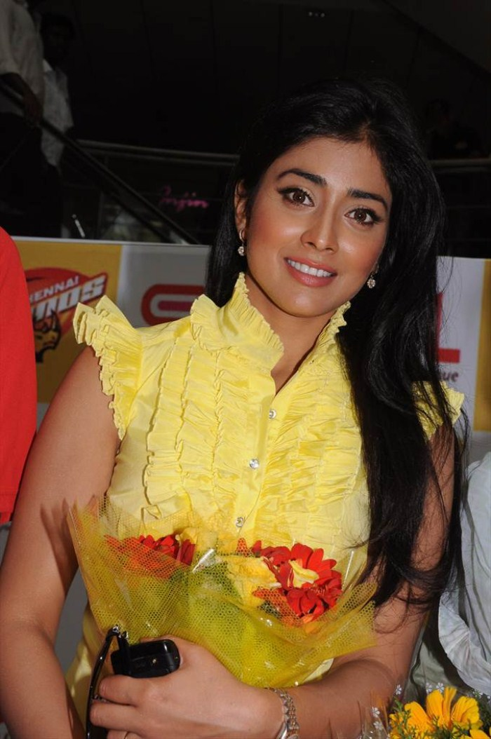 Shriya Saran Photoshoot at CCL Promotional Event