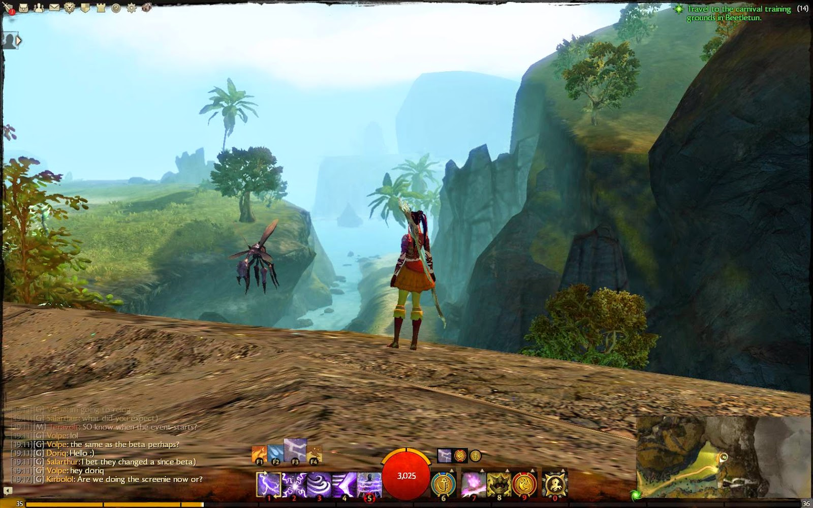 MMORPG ability to jump and run