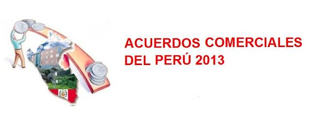 Acuerdos comerciales del perú vigentes