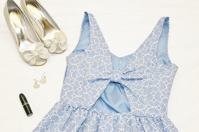 Katherine Penney Chic Outfit Fashion Style Summer Dress Evening Pretty Cute Pastel Blue