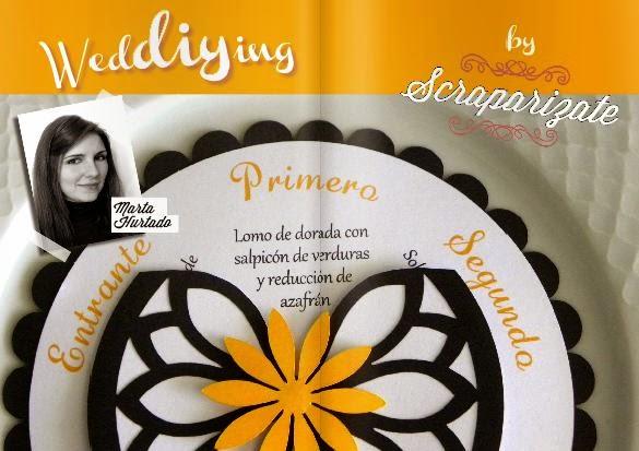DIY Menú de boda en rueda blog de bodas
