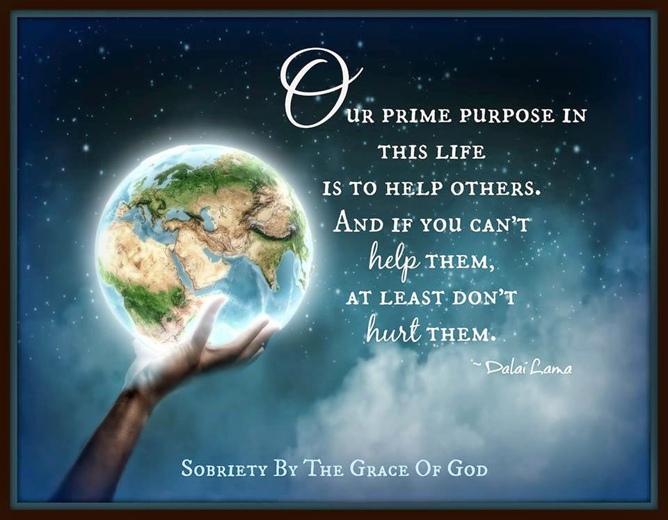 Our Prime Purpose In This Life Is To Help Others And If You Can't Awesome Quotes Purpose Of Life