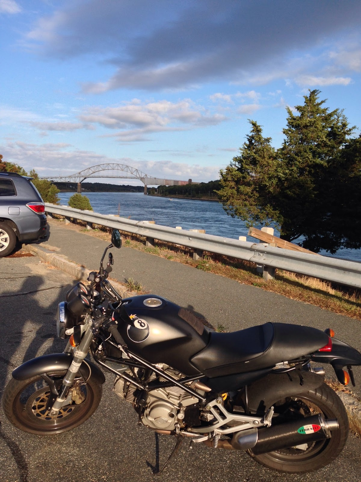 Tigho NYDucati goes Biking to Boston and Cape Cod and Chatham, Massachusetts Cape Cod Canal