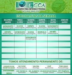AGENDA ECON DE 20 Á 24 DE FEVEREIRO