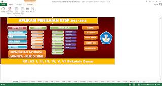 Tampilan awal aplikasi Penilaian KTSP SD