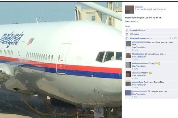 status facebook cor pan MH17