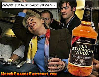 obama, obama jokes, political, humor, cartoon, conservative, hope n' change, hope and change, stilton jarlsberg, hillary, drunk, stomach virus, blood clot, benghazi
