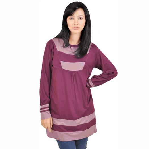 baju wanita ungu bahan spandex