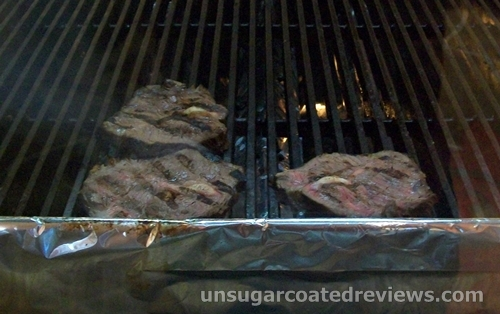 Brazilian beef steak being grilled