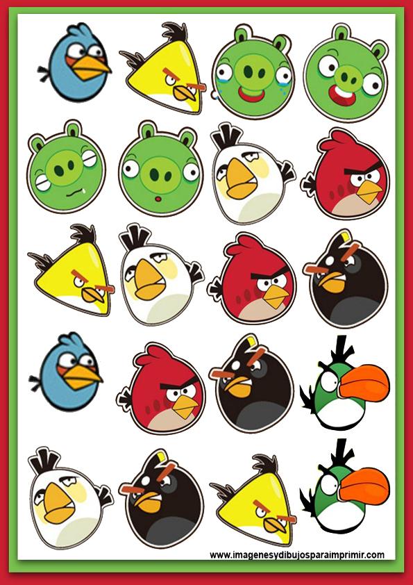 dibujos para imprimir angry birds y cerdicolas