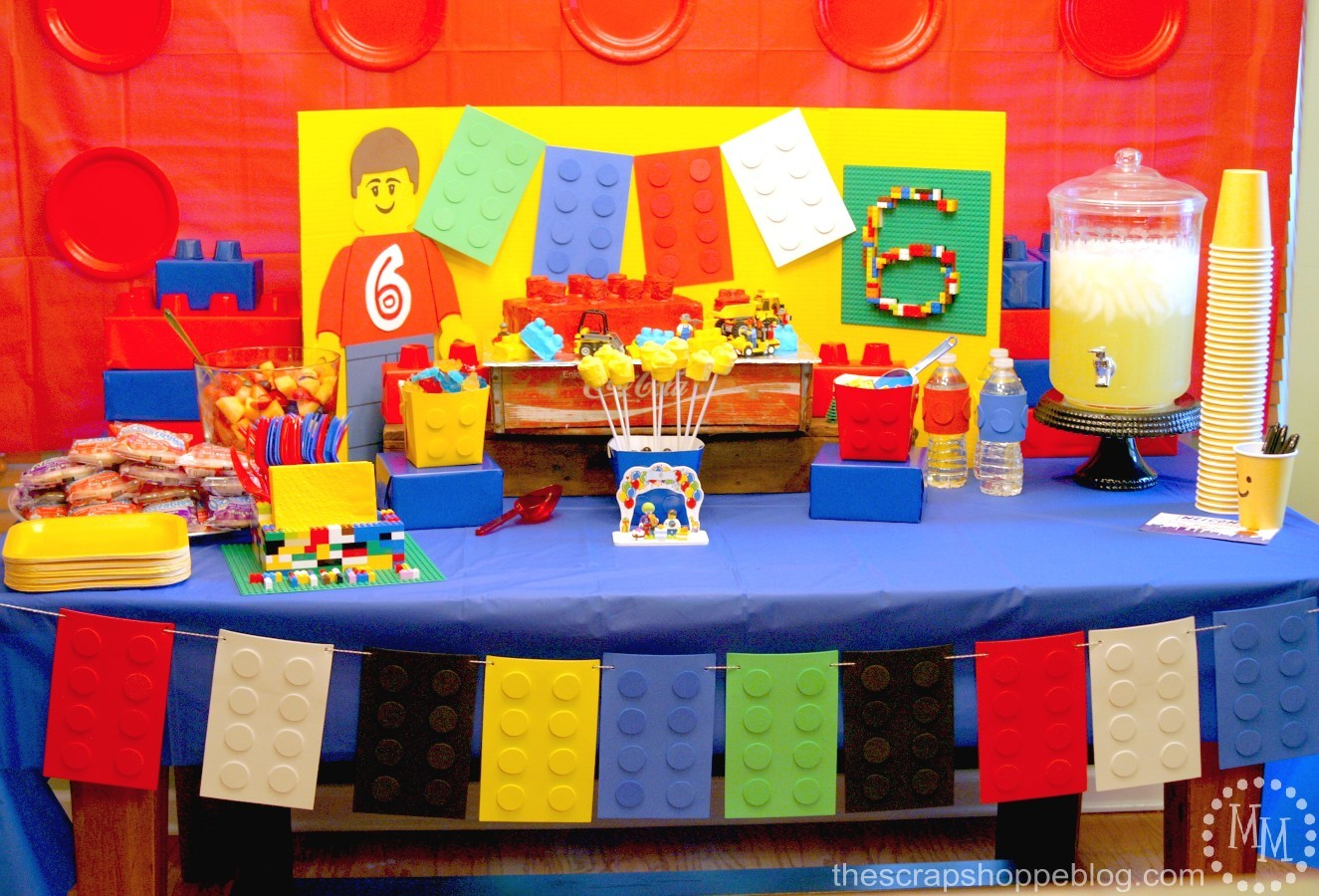 LEGO Birthday Party The Scrap Shoppe – Lego City Birthday Invitations
