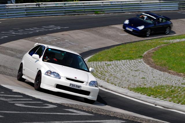 Honda Civic 6-Gen. & Porsche japoński sportowy samochód hatchback hot VTEC B18 B16