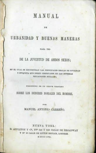 1857 MANUAL DE URBANIDAD Y BUENAS MANERAS