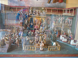 Elaborate Creche Scene, Sculpture at Museo Pedro Osma, Lima