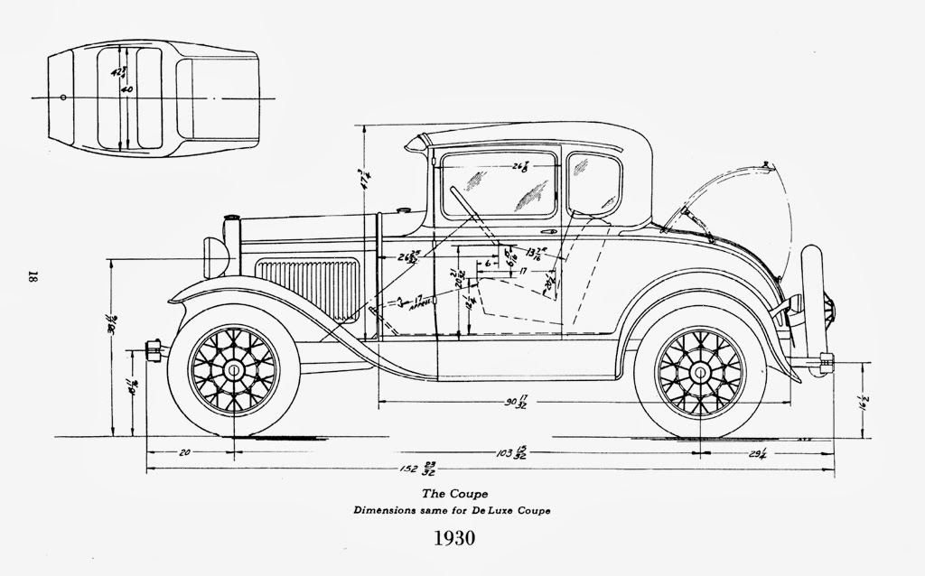 Cool Model Ford Drawings on old cabriolet