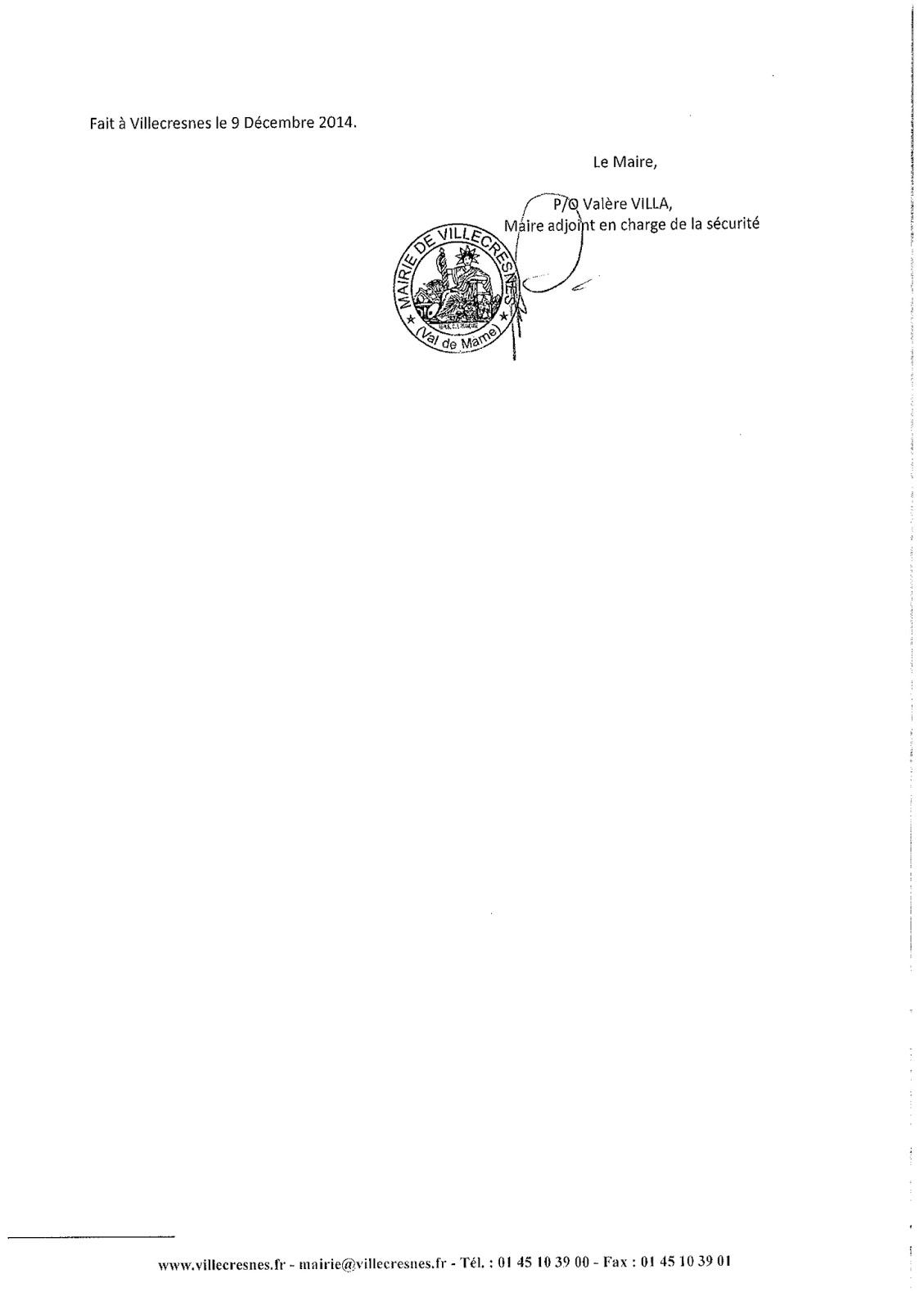2014-115 Réglementation sur l'interdiction de stationner sur le parking de la cour de la mairie