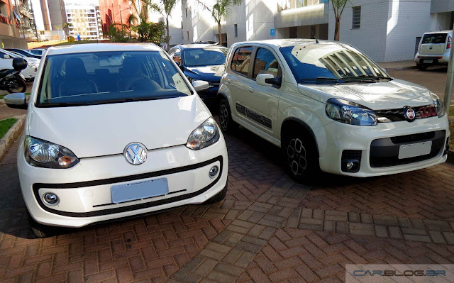 Fiat Uno Automatizado x VW Up! I-Motion