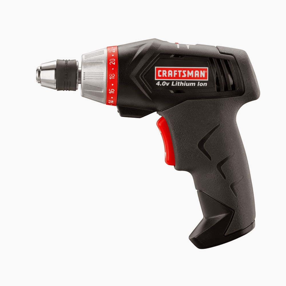 Craftsman 4 volt Cordless Lithium-Ion Screwdriver with Case and 20 pc