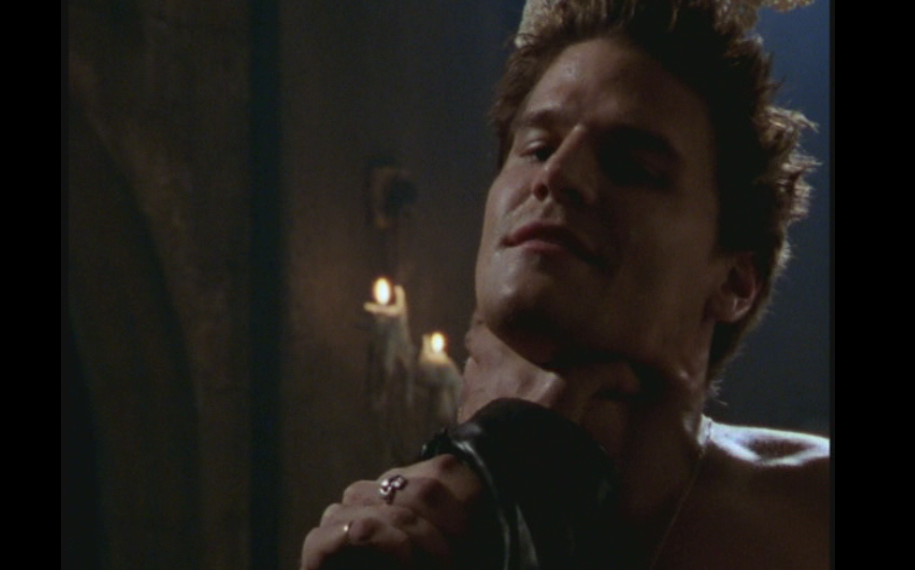 David boreanaz as angel on buffy the vampire slayer season 2 what s my