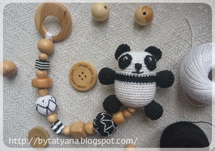 вязаная панда