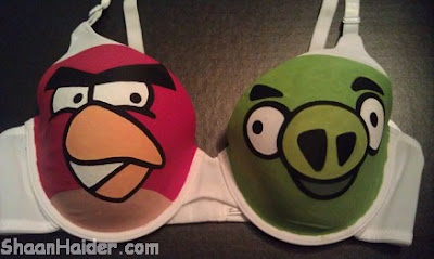 Geeky Gaming Bra For Geek Chicks Angry Birds Bra