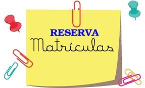 RESERVA DE MATRÍCULA 2020-2021