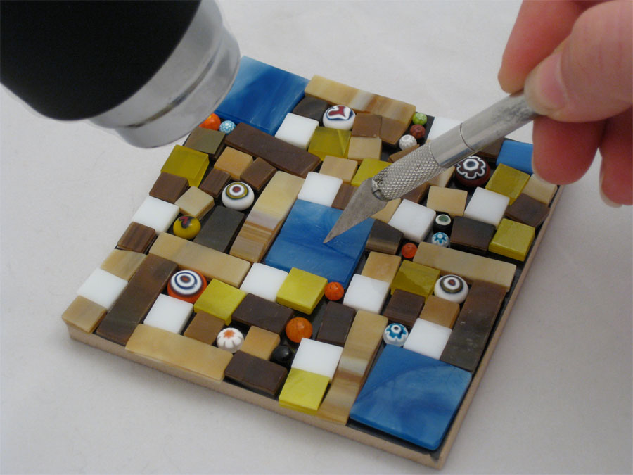 No Days Adhesives: Playing with No Days Groutless Mosaic Adhesive