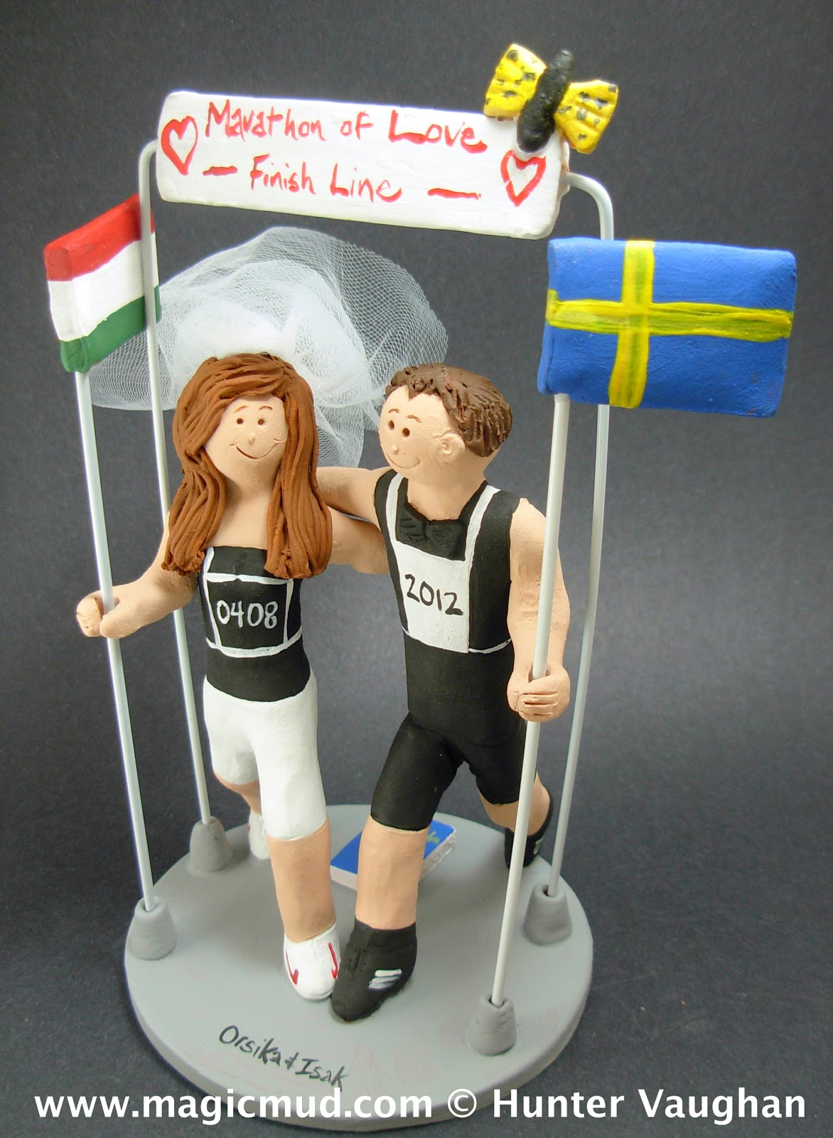 Custom Wedding Cake Toppers Sporting Athletes Wedding Cake Topper