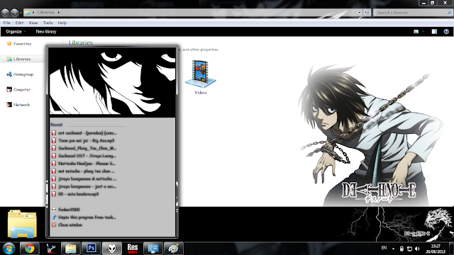[Theme Win 7] L - Death Note By Bashkara